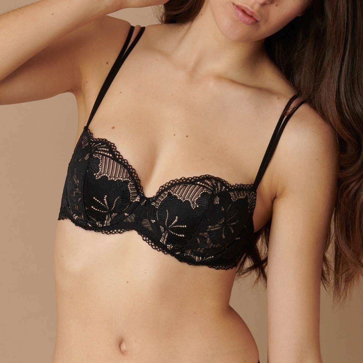 3/4 cup bra - Black