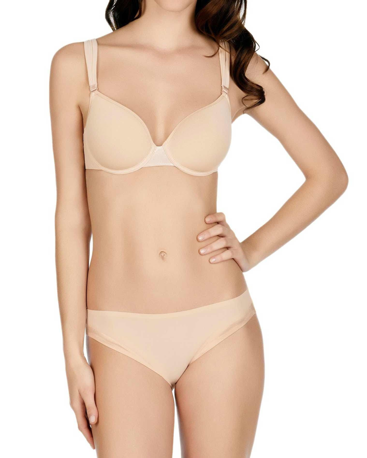 3D spacer plunge bra - Nude