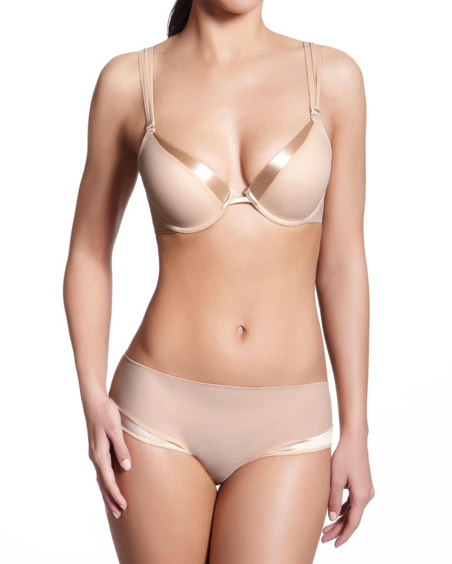 Progressive padded push up bra - Nude