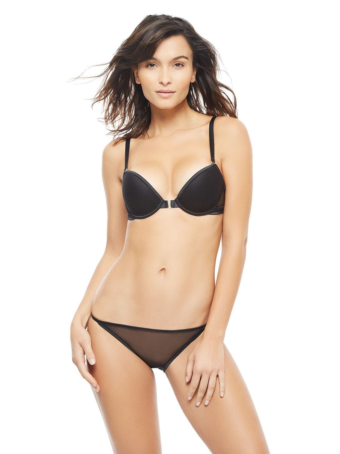 Smooth cup push-up bra - Black