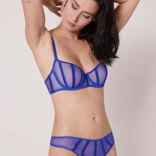 Half cup bra - Royal Blue