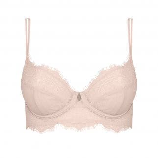 Deep plunge triangle full cup bra - Paradise Pink