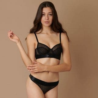 Mini bustier bra - Black