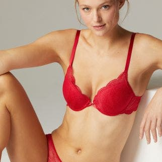 Push-up bra - Poppy Red