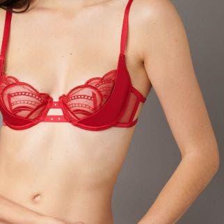 Half cup bra - Poppy Red