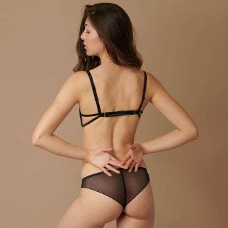 Explicit balconet bra - Black