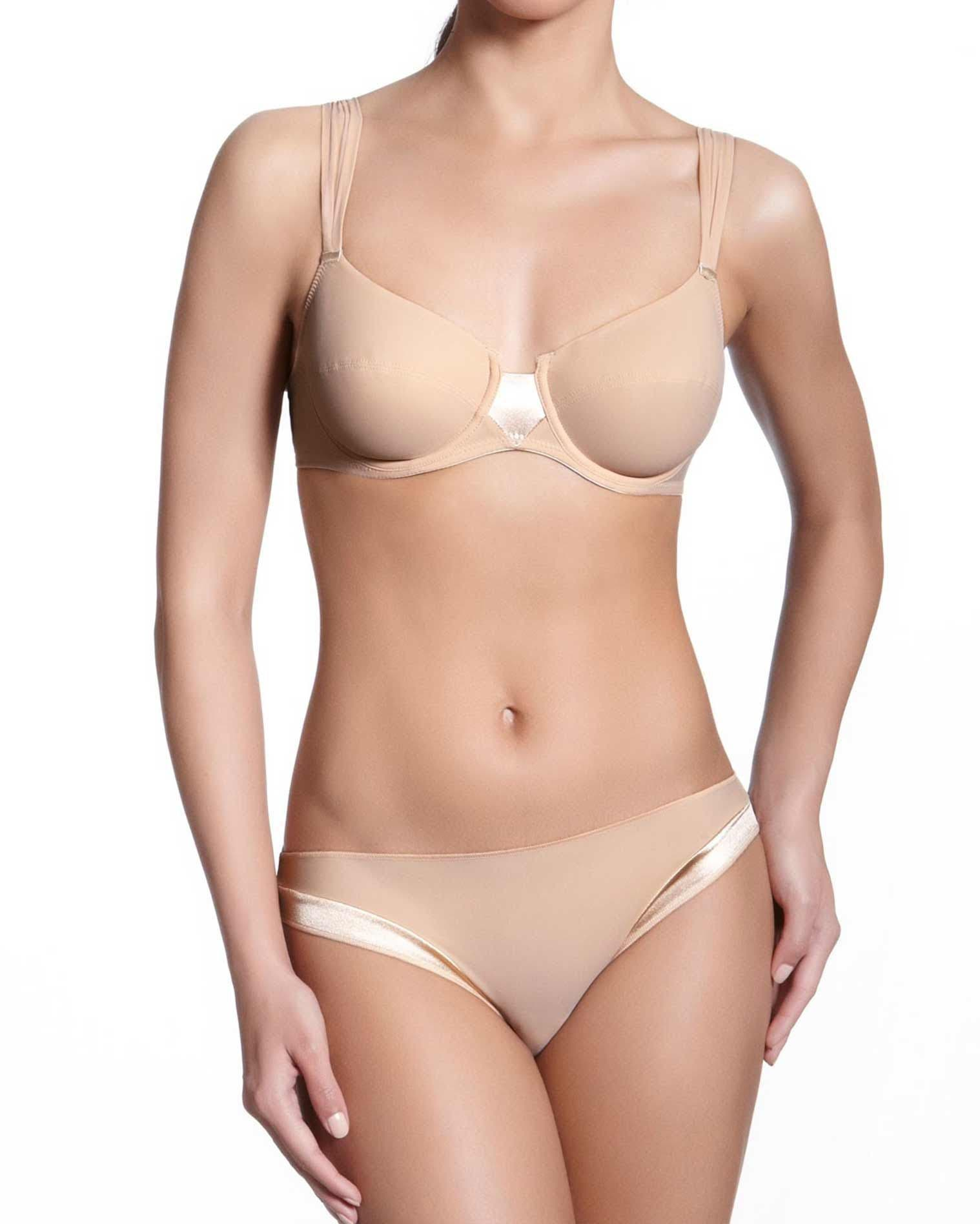 Underwired full cup bra - Nude