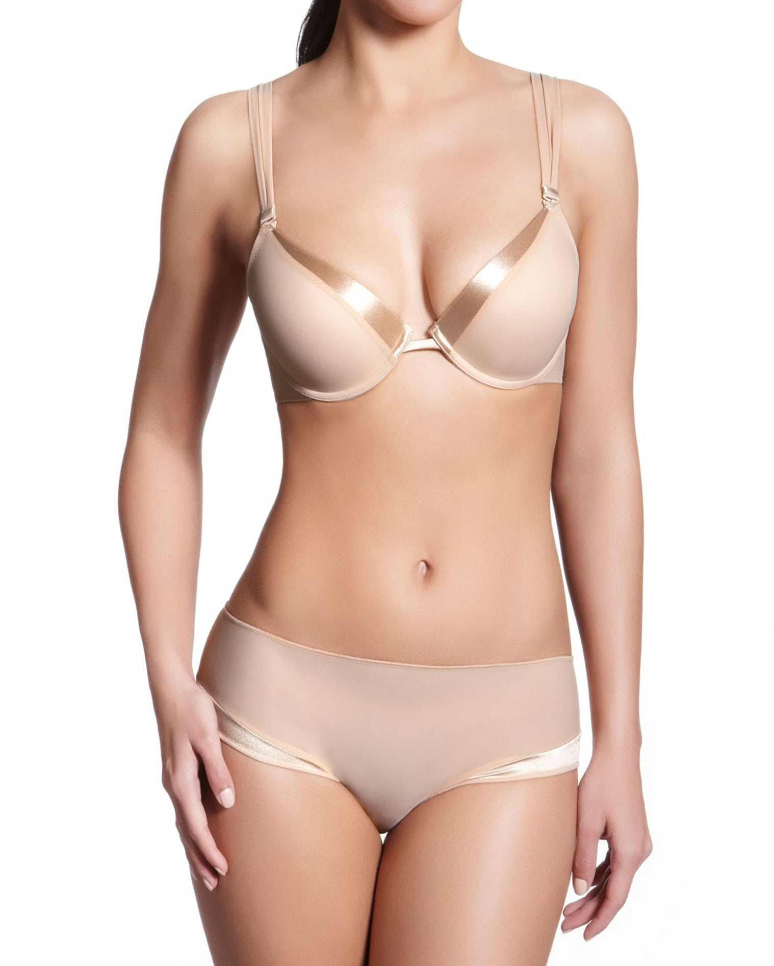 Smooth cup push up bra - Nude