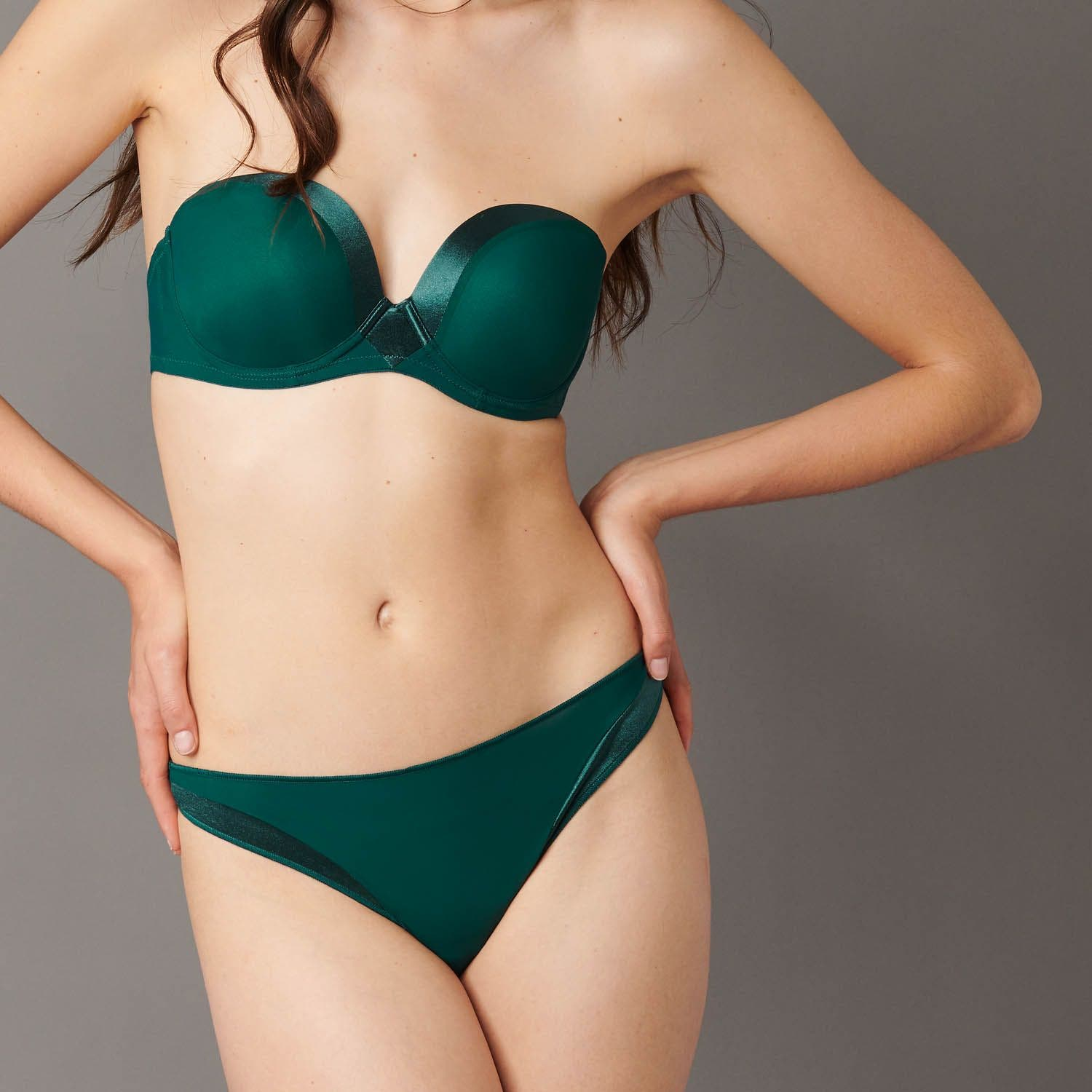 Thong - Emerald green
