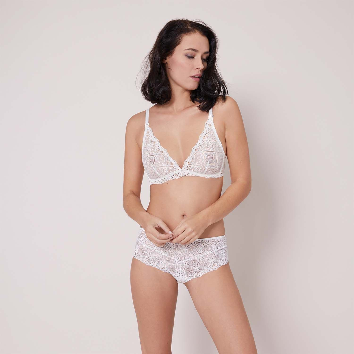 Soft cup triangle bra - Natural