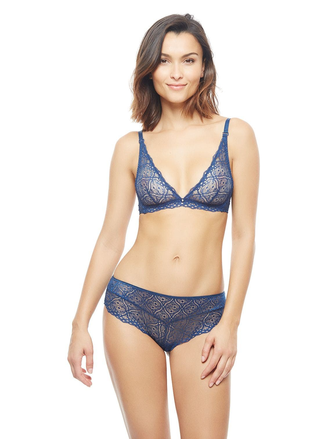 Soft cup triangle bra - Twilight