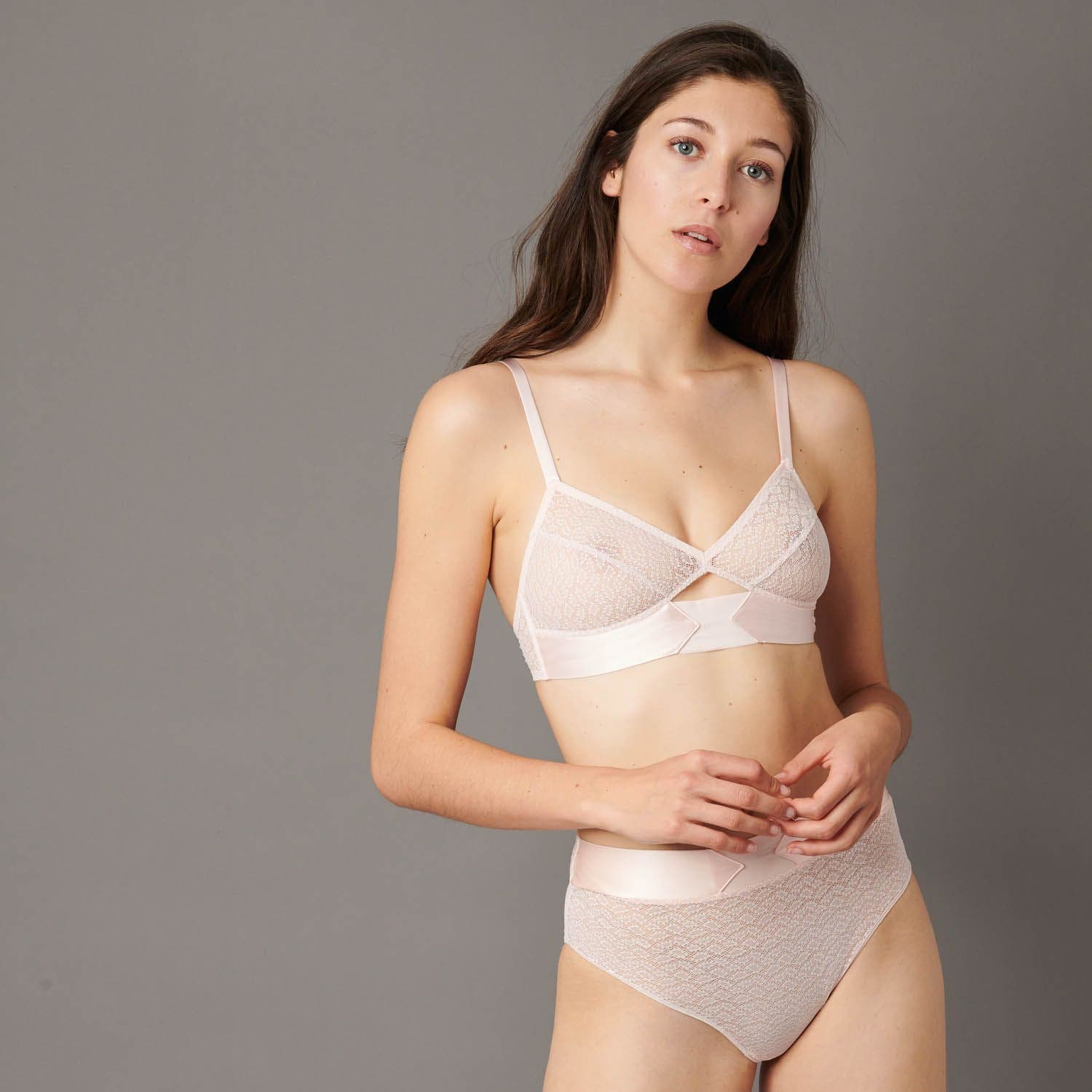 Soft cup triangle bra - Paradise Pink