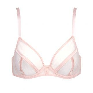 Full cup plunge bra - Paradise Pink