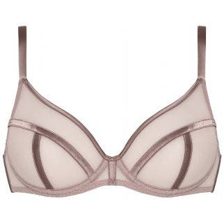 Full cup plunge bra - Blush