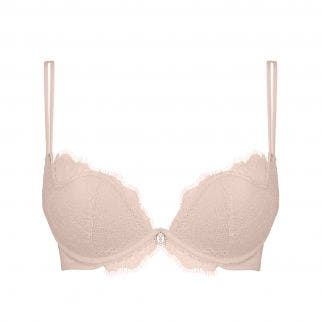 Plunging push-up bra - Rose