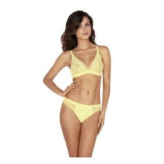 Soft cup triangle bra - Yellow