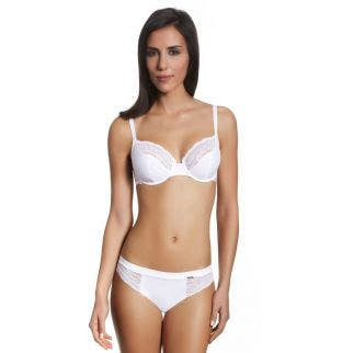 Tulip full cup bra - White